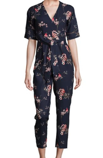 Lord & Taylor Phase Eight Floral Print Jumpsuit