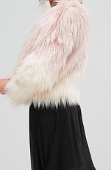 ASOS Stradivarius Faux Fur Jacket