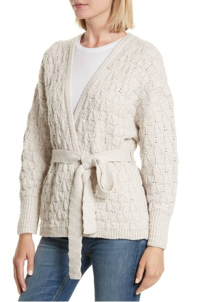 Nordstrom- Rebecca Taylor Belted Merino Wool Cardigan