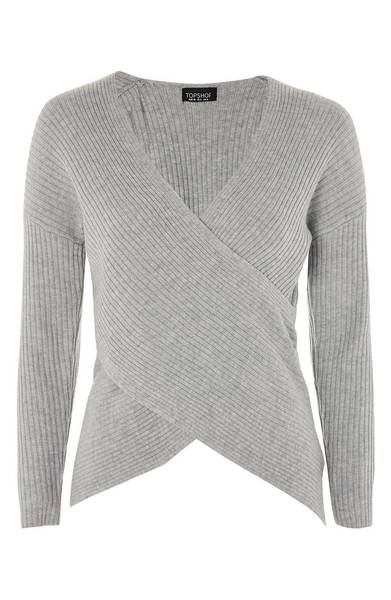 Nordstrom- Topshop Wrap Front Sweater